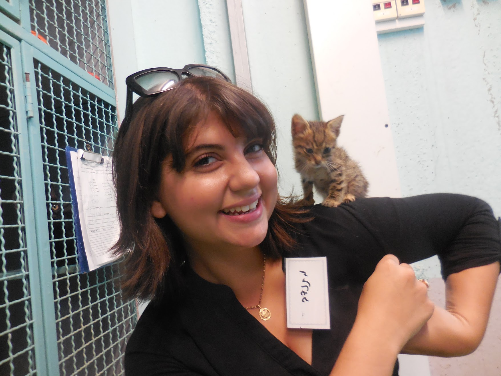 (photo: Danielle, Volunteer at SPCA Animal Shelter)